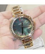 FOSSIL Ladies Karli Three Hand Rose Gold Tone Stainless Steel Watch BQ34... - $74.95