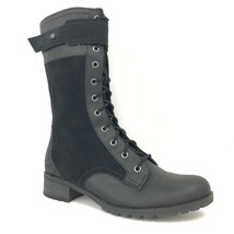 Timberland Women's Wenham Mid Zipper Black Leather Tall Winter Boots Style A11OV - $109.99