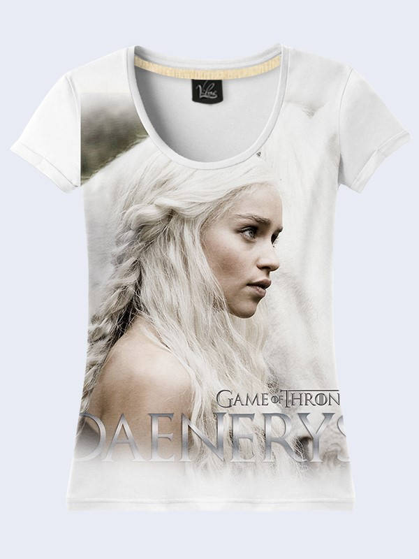 Used, 2017 Game of Thrones Dragon Mother Daenerys Targaryen 3D simbol sign  T-shirt ne for sale  USA