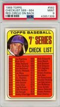 1969 Topps 7th Series Checklist Tony Oliva Red Circle On Back #582 PSA 9... - $51.20