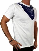 NEW LEVI'S MEN'S PREMIUM CLASSIC GRAPHIC COTTON T-SHIRT SHIRT TEE WHITE BANDANA image 2