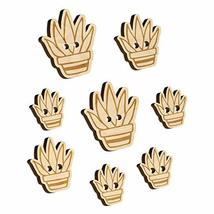 Hand Drawn Cactus Succulent Doodle Wood Buttons for Sewing Knitting Croc... - $9.99