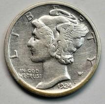 1924D Silver Mercury Dime 10¢ Coin Lot# A665