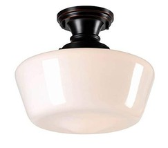 Kenroy Home 93660ORB Rustic 1 Light Flush Mount,10.5 Inch Height, 12 Inch Diamet - $99.90
