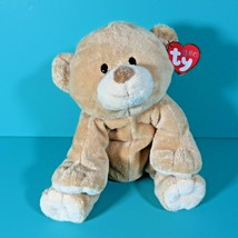 "Ty Pluffies Woods Teddy Bear 8"" Plush Tan Brown Stuffed Animal Lovey 2009 Tag - $34.95"
