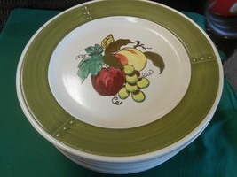 "Great Poppy Trail By Metlox ""Provincial Fruit"" Set Of 11 Dinner Plates - $67.90"
