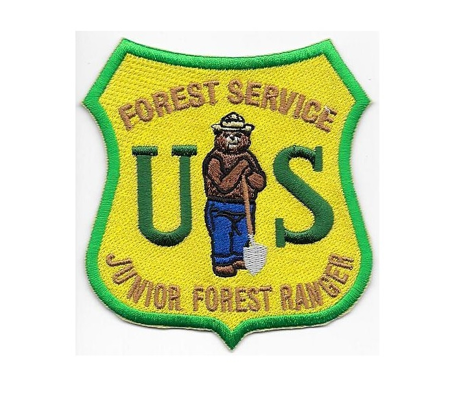 Hot Shot Wildland Fire Crew USFS United States Forest Service Gold on Green med