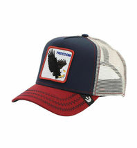 Goorin Bros Snapback Mesh Cap Navy Let It Ring Freedom Eagle Trucker Hat 1010563 image 3