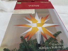 "Holiday Living LED 12"" Lighted Star Hanger / Tree Topper Indoor / Outdoor - $21.99"