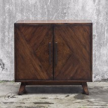 "NEW 36"" MANGO WOOD VENEER MAHOGANY STAIN  ACCENT CONSOLE CABINET VINTAGE... - $723.80"