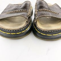 Dr. Martens Women's 6 M Brown Leather Sandals Slides Shoes image 3