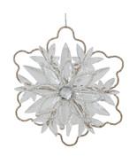 5.25 Elegant Gold Glitter Winter Snowflake Christmas Ornament - tkcc - $24.95