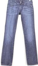 Vigoss jeans 27 x 30 3/4 skinny embellished bling back pockets dark low ... - $17.81