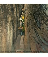 VTG 1952 Postcard Rock City Lookout Mountain GA Fat Mans Squeeze Posted ... - $14.46