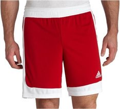 adidas Men's Tastigo Short, University Red/White, XX-Large - $19.09