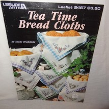 Tea Time Bread Cloths Cross Stitch Leaflet 2467 Patterns 1993 Flowers - $9.99