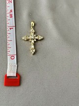 1.00 CARAT DIAMOND CROSS SET IN 14K YELLOW GOLD - $989.01