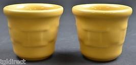 Longaberger Pottery Woven Traditions Butternut Pattern Candle Votives Se... - $24.99