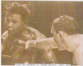 Sugar Ray Robinson Carmen Basilio Vintage 8x10 Sepia Boxing Memorabilia ... - $4.99
