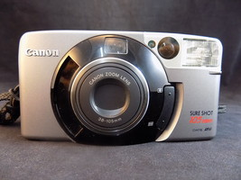 CANON FLASH CAMERA SURE SHOT 105 ZOOM 38-105mm 1417085 w/ Strap made in ... - $9.89