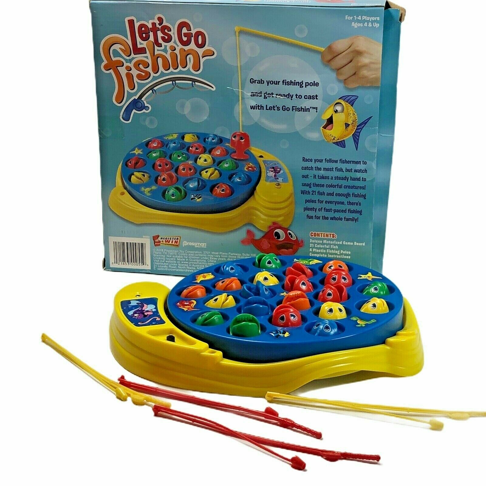 Primary image for Let's Go Fishing Game Kids Preschool Catch Fish Motorized Action Complete in Box
