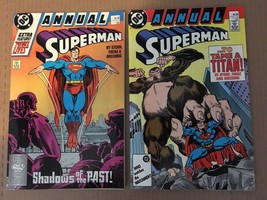 Superman Annual #1 & 2 DC Comic Book Lot 1987-88 NM Or Better Condition - $4.49