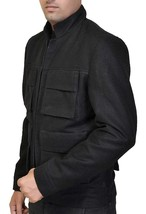 Star Wars Empire Strikes Back Han Solo Flap Pockets Black Wool Jacket image 2
