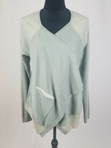 CABI #5132 women M pocket cardigan sage drape open front sweater - $44.55