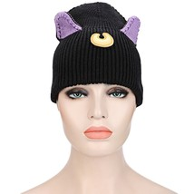 Cute Cat Ear Decoration Color Block Girls Knitted(BLACK) - $10.31