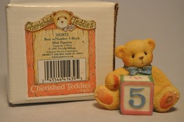 """Cherished Teddies - Bear with Number """"5"""" Block - 302872 - $11.18"""