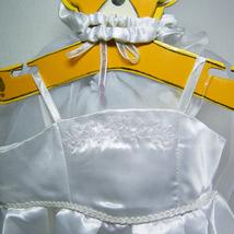 Build A Bear BRIDE White Satin Wedding Dress Gown Slippers Veil Bouquet - $16.00