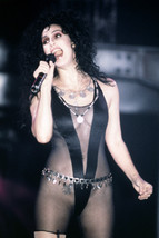 Cher Stunning Very Revealing Black Costume Tattoo Concert Singing 18x24 Poster - $23.99