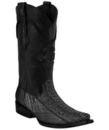 Mens Gray Real Ostrich Foot Exotic Skin Leather Cowboy Boots Western Sni... - £138.90 GBP