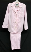 Ralph Lauren Sz M Womens Lightweight Summer Pajama Set Top Bottom Pink S... - $37.05