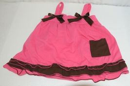 I love Baby Two piece Sun Top Ruffled Bloomers Hot Pink Brown Size 3 to4 T image 5