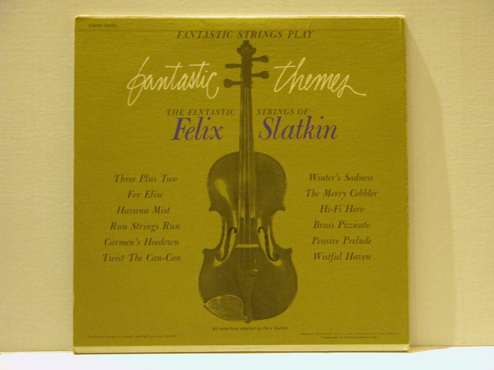 FANTASTIC STRINGS OF FELIX SLATKIN + COLORATURA ARIAS LP - FREE SHIPPING