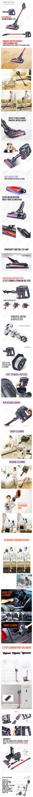 [LOTTE] Lotte / Cordless Vacuum Cleaner L-275 / Home Electronics / Vacuum Cleane
