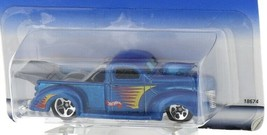 1998 Hot Wheels First Editions Blue '40 Ford Pickup Dragster