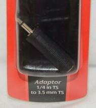 Hosa Technology GMP113 Adaptor Quarter Inch TS To Three And Half Same image 2