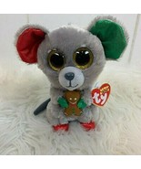 TY Beanie Boos Mac Christmas Mouse Holiday Plush Toy Gingerbread 100% Ty... - $24.70
