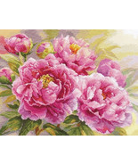 Cross Stitch Embroidery Kit Beautiful Peonies - $31.48
