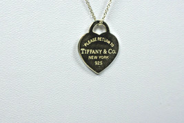 Tiffany & Co Return to Tiffany Heart Tag Sterling Silver Pendant Necklace - $120.76