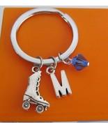 Roller Skate Keychain Custom Keychain Custom Key Ring Roller Skate - $11.00