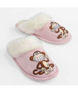 BOBBY JACK Pink Rubber Bottom Faux-Fur Plush Slippers NWT Girls Size 13/1 - $13.56