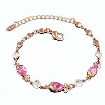 Amethyst Bracelet Jewelry Fashion Heart-shaped Rose Gold Bracelet Hand Jewelry