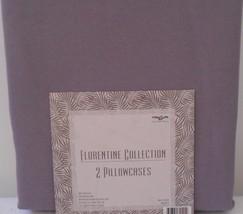 LIGHT DUSTY PURPLE PILLOWCASES STANDARD SET OF 2 FLORENTINE COLLECTION - $8.99