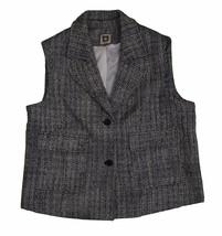 Anne Klein Knit Vest, Black/White, Size 14 - $59.39