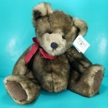 "Russ Berrie Danny Plush Faux Mink Teddy Bear Stuffed 14"" Soft Bombay Fur... - $21.77"