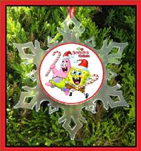 Sponge Bob Square Pants Christmas Ornament - X-MAS Snowflake Ornament - $12.95