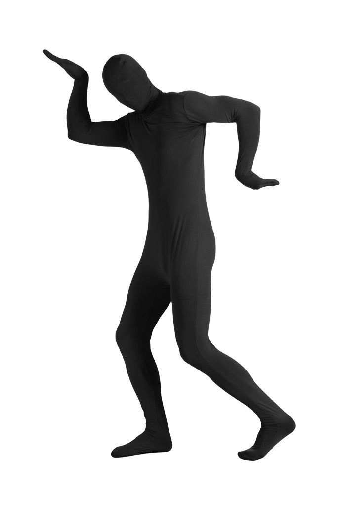 ZENTAI SUIT COSTUME ADULT 2nd SKIN SUIT SPANDEX BODYSUIT HALLOWEEN BLACK MAN